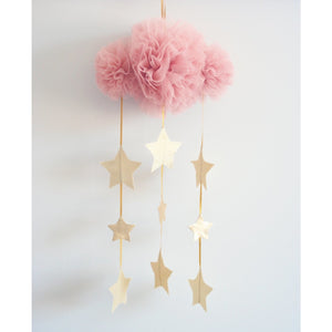 Tulle cloud & star mobile - Blush & Gold - Hope & Jade