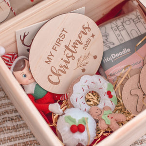 Available August 2021 Christmas Eve boxes - Personalised wooden keepsake Christmas eve boxes