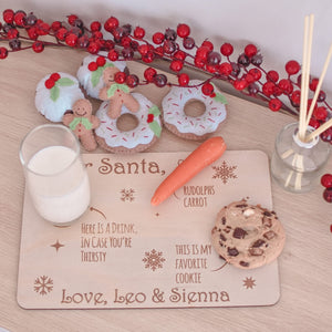 Available August 2021 Personalised Santa tray - Christmas Eve milk and cookies for Santa