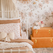 Load image into Gallery viewer, girls bedroom with set of two storage cases sitting on the floor next to girls toddler bed.
