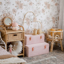 Load image into Gallery viewer, set of two dusty pink storage cases in girls bedroom