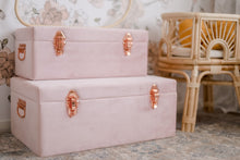 Load image into Gallery viewer, Storage case set Luxe velvet - Dusty Pink and rose gold