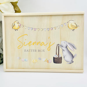 easter box personalised keepsake timber box