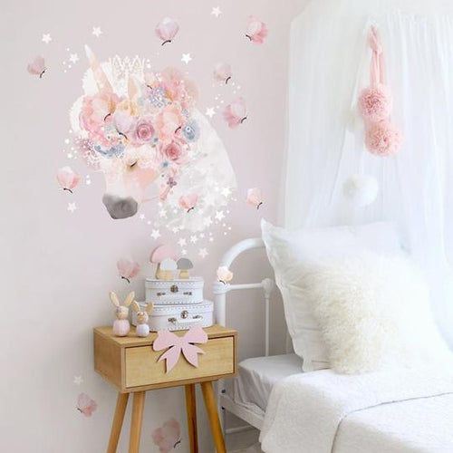 Schmooks - Unicorn & Butterflies wall stickers decal