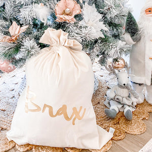Available August 2021 Santa Sack - Personalised Velvet sack design