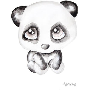 Poppy the Panda - Watercolour print