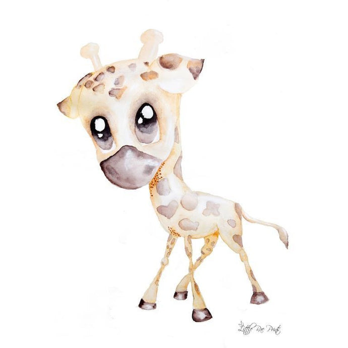 George the Giraffe - Watercolour print