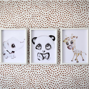 Poppy the Panda - Watercolour print - Hope & Jade