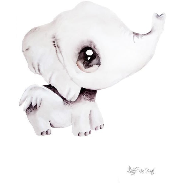 Effie the Elephant - Watercolour print - Hope & Jade