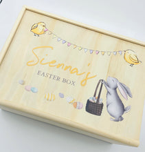 Load image into Gallery viewer, timber handmade personalised easter keepsake box