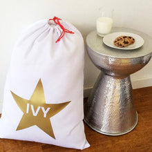Load image into Gallery viewer, Available August 2021 Santa Sack - Personalised Metallic star design