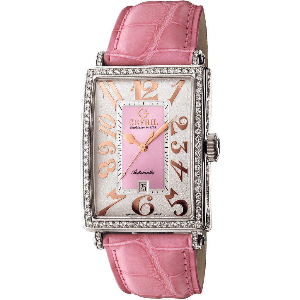 Gevril Women's 6208RV Glamour Automatic Pink Diamond Watch [Watch]