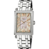 Gevril 9248RLB Avenue Ladies Midsize Steel case Pink dial rose numbers steel bracelet..