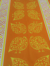 Hand Painted table runner Guinea Fowl Design