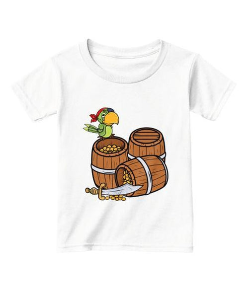 Treasure And Pirate Parrot T-Shirt - eClick Shopping Express
