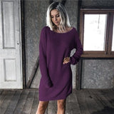 Casual Sweater Dress Long Sleeve - eClick Shopping Express