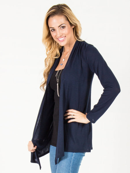 Open Front Cardigan - Navy - eClick Shopping Express