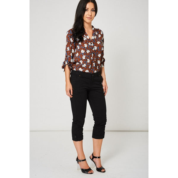 Black Crop Trousers - eClick Shopping Express