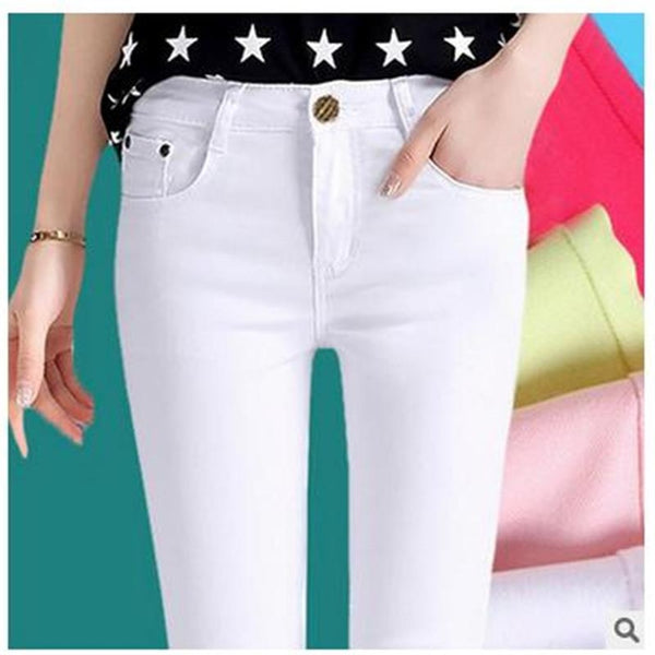 Candy color pencil pants elastic jeans - eClick Shopping Express