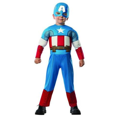 Rubies Costume Baby Boys Marvel Classics Avengers Muscle Chest Captain America Toddler