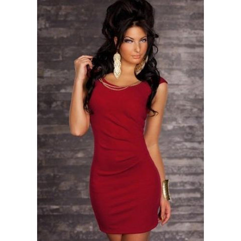 Red Casual Style Mini Dress