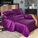 4pcs Luxury Silk Bedding Sets Seamless 25 Momme Silk Bedding Set,  Free Shipping