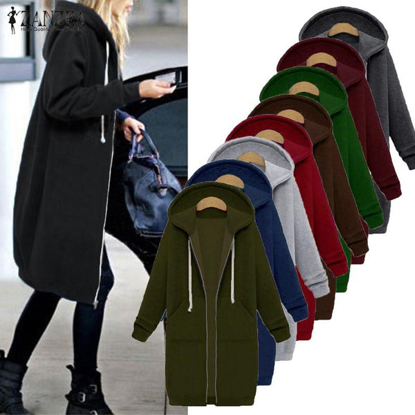 Casual Long Hooded Jacket