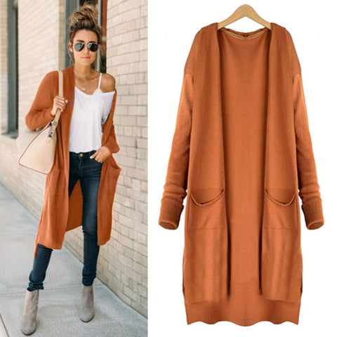 Warm Sweater Coat Long Full Sleeve