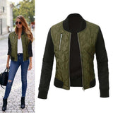 Autumn Women Basic Coat Casual Long Sleeve Bomber Jacket - eClick Shopping Express