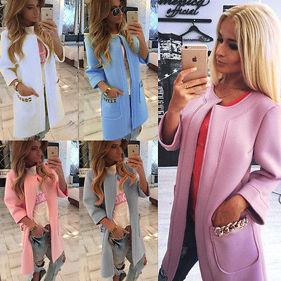 2015 New style WOMENS Ladies coat jacket wrap surcoat Winter Warm Long Parka Coat Outwear Jacket SIZE S-XL - eClick Shopping Express