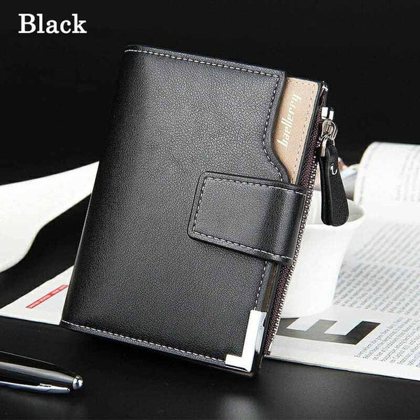 Wallet men leather men wallets purse short male clutch leather wallet mens money bag