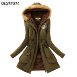 Female Women Winter Coat Thickening Cotton Winter Jacket Womens