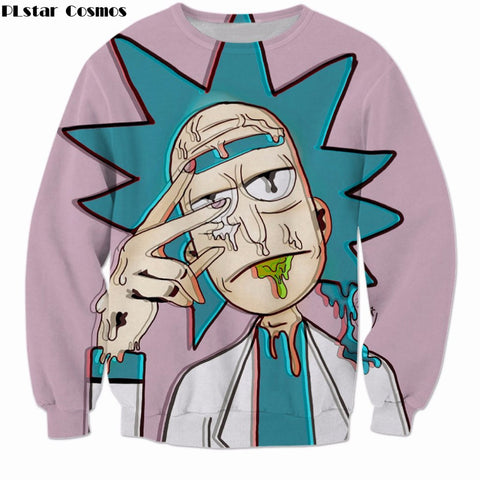 PLstar Cosmos Rick and Morty Sweatshirts Men Women Streetwear Hipster Pullovers Funny Scientist Rick 3d Print Sweatshirt S-5XL - eClick Shopping Express
