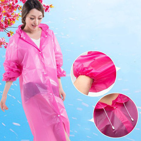Rain Poncho Rain Wear Coat Rain Cape Jacket Waterproof Emergency Reusable
