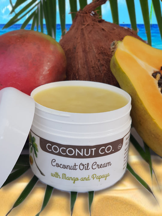 Coconut Co. Organic Coconut Oil Cream - Mango & Papaya 200ml - Coconut Co.