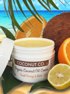 Coconut Co. Organic Coconut Oil Cream - Sweet Orange & Lime 200ml
