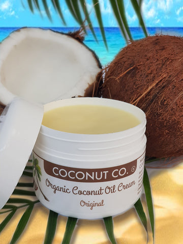 Coconut Co. Organic Coconut Oil Cream- Original Coconut 200ml Rejuvenate skin with organic NZ coconut beauty products  -