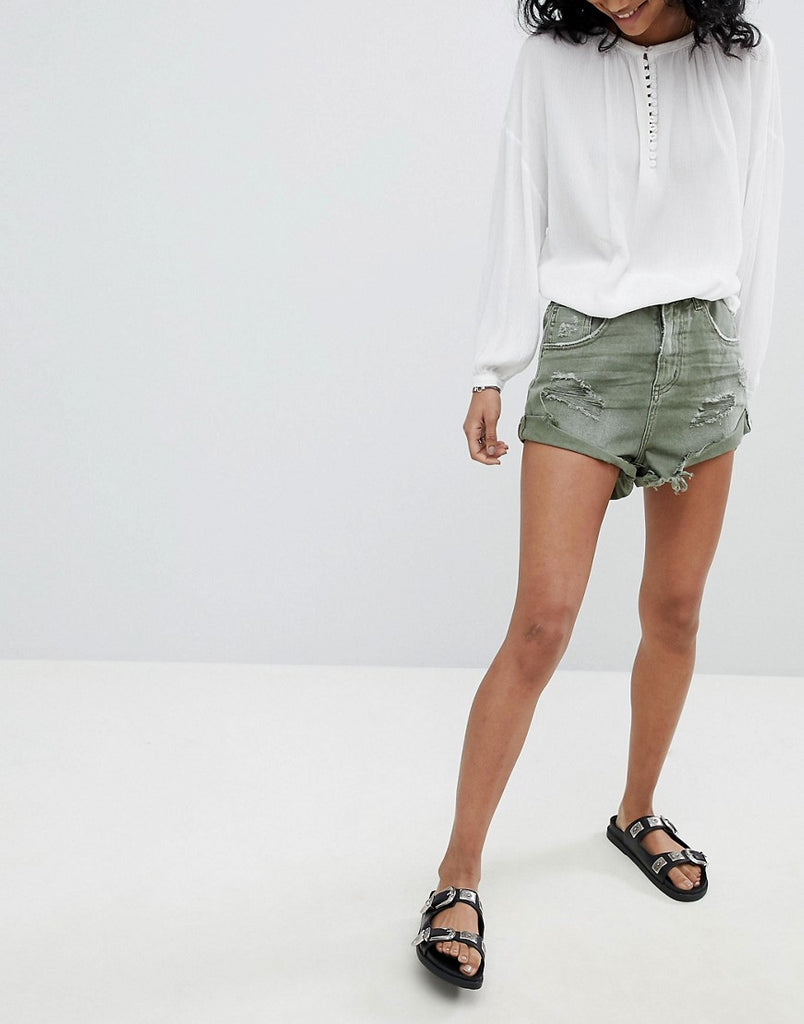 High Elastic Waistband Shorts