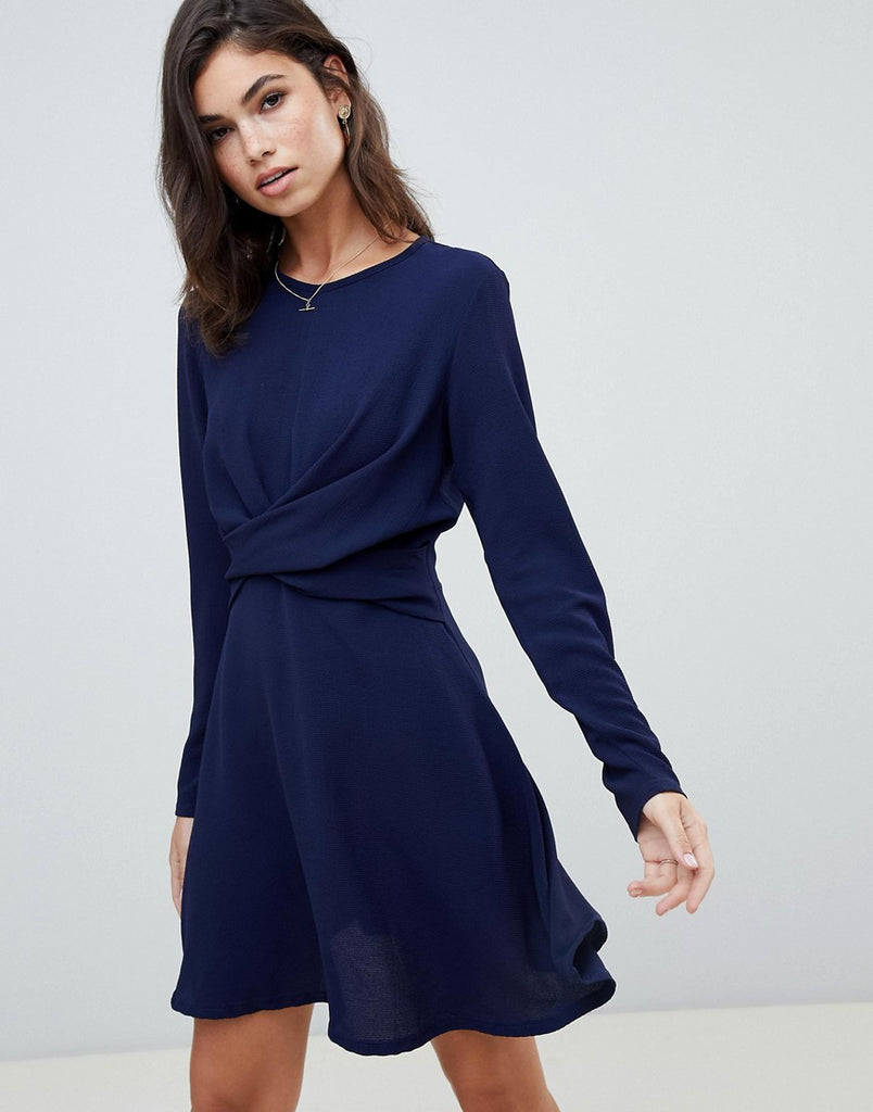 Skater dress in navy