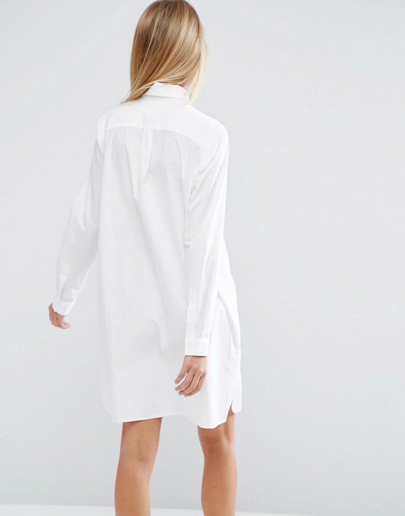 Cotton mini shirt dress
