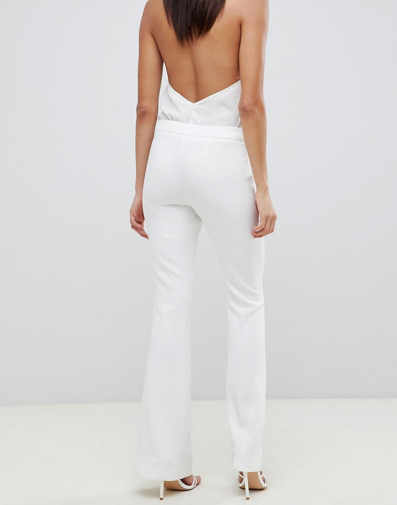 Slim kick flare trouser