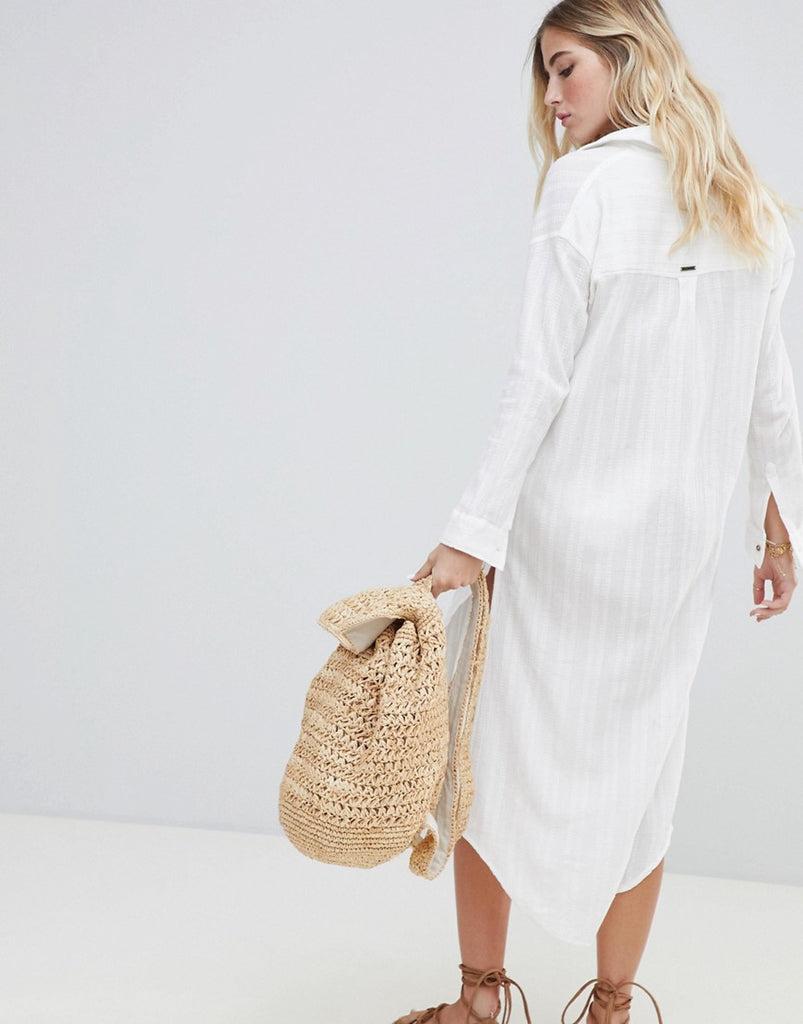 Crinkle Beach Shirt Dress