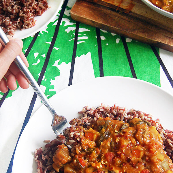 Vegetable lentil curry
