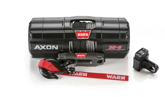 WARN AXON 35-S 12V ATV Winch- Synthetic Rope
