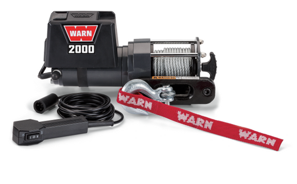 WARN 2000DC 12V Utility Winch 10.7M - Wire Rope