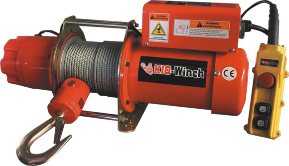 KIO-Winch GRV-300 240V AC Electric Winch  - Wire Rope
