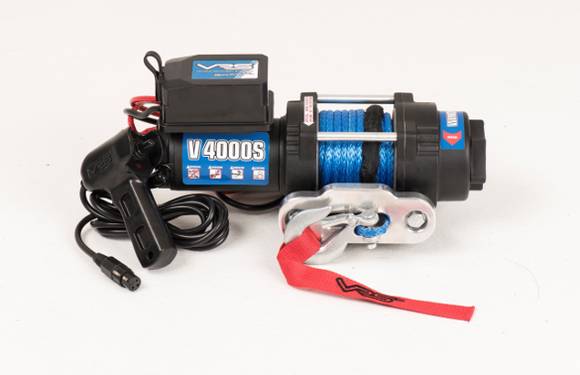 VRS V4000S 4k 12V Utility Winch  - Synthetic Rope