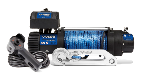 VRS V9500S  9.5k 12V 4x4 Winch  - Synthetic Rope