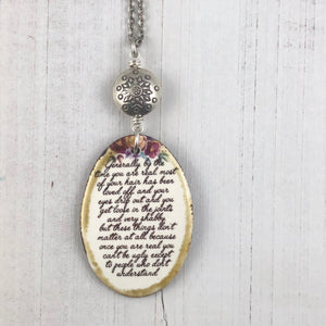 Affirmation Necklace The Velveteen Rabbit
