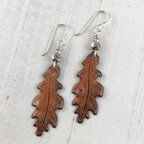 Autumn Oak Earrings Chestnut